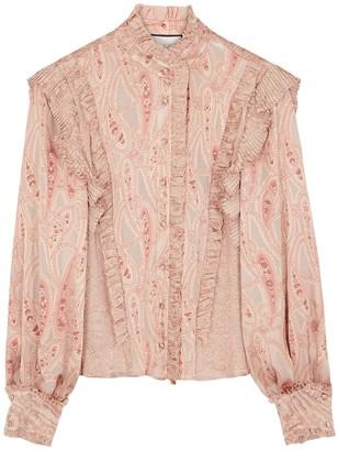 Alexis Elina paisley-devore satin blouse