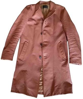 Prada Pink Leather Coats