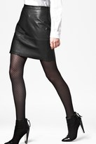 French Connection Jet Leather Skirt