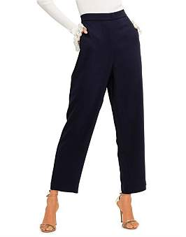 St. John Stretch Viscose Cady Cropped Pant