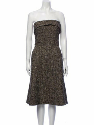 Dolce & Gabbana Virgin Wool Mini Dress Wool