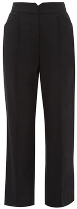 Rebecca Taylor High-rise Twill Trousers - Womens - Black