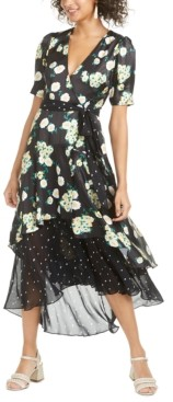 Foxiedox Anemone Mixed-Print Midi Dress