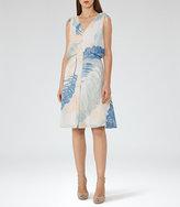 Reiss Sirus Printed Midi Dress