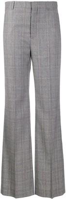 Balenciaga Flared Checked Trousers