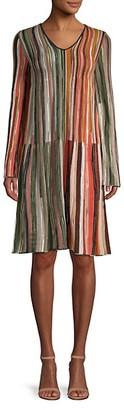 M Missoni Rainbow Stripe Shift Dress