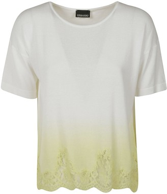 Ermanno Scervino Laced Hem T-shirt
