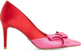 Dune Bowiee satin triple bow courts