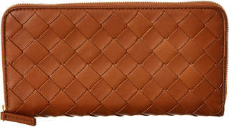 Bottega Veneta Bottega Venetta Intrecciato Leather Zip Around Wallet