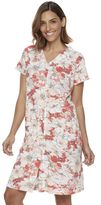 Women's Miss Elaine Essentials Floral Knit Short Robe