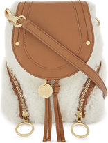 See by Chloe Shearling and leather mini backpack