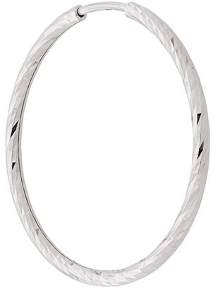 Maria Black 14kt white gold Alba 20mm hoop earring