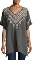 Johnny Was Shobah Long French Terry Poncho, Plus Size