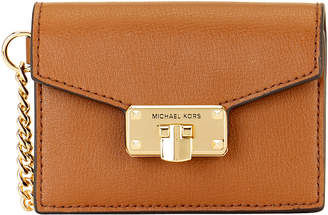 Michael Kors Women's Wallets LUGGAGE - Luggage Kinsley Leather Accordion Card Holder