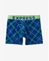 Express blue plaid boxer briefs