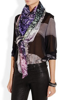 Mary Katrantzou Landscape-print modal and cashmere-blend scarf