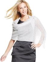Style&Co. Style & Co Woven Metallic Crochet Wrap
