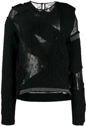 Preen by Thornton Bregazzi Distressed Round Neck Jumper