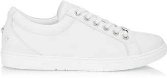 Jimmy Choo CASH White Soft Leather Low Top Trainers