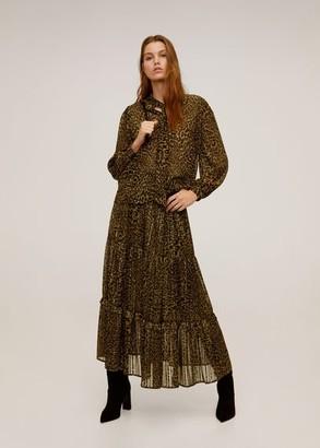 MANGO Leopard-print flowy blouse