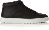 Etq Amsterdam High 1 rubberized-leather trainers
