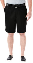 Haggar BIG & TALL Cool 18 Shorts - Classic Fit, Flat Front, Expandable Waist