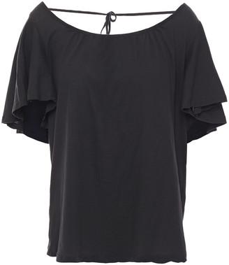 BA&SH Hello Tie-back Cotton-jersey T-shirt