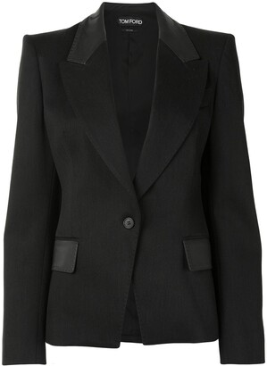 Tom Ford Contrast-Panel Single-Breasted Blazer