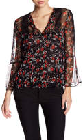 The Kooples Doted Flower Silk Blouse