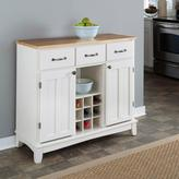 Home Styles Large Serving Buffet - White/Natural