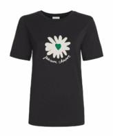 Fabienne Chapot - Black Daisy Print Wordy T Shirt - xs
