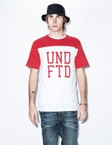 Undefeated Red UNDFTD Football T-Shirt