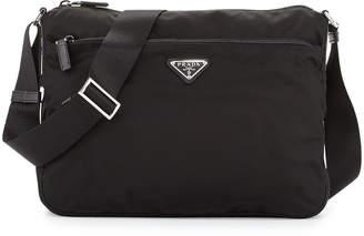 Prada Large Nylon Crossbody Bag, Black (Nero)