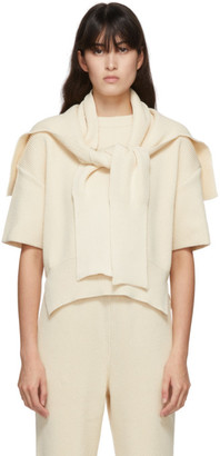 LE 17 SEPTEMBRE LE17SEPTEMBRE Off-White Knit Muffler Sweater