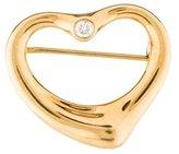 Tiffany & Co. 18K Diamond Open Heart Brooch