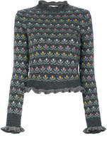 RED Valentino floral jumper - women - Acrylic/Wool/Virgin Wool - S