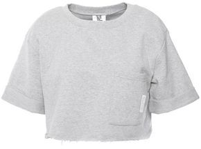 Les Girls Les Boys Cropped French Cotton-terry T-shirt