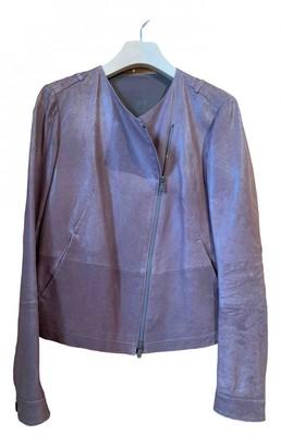 Brunello Cucinelli Beige Leather Leather Jacket for Women