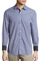 Report Collection Contrast-Cuff Cotton Sportshirt