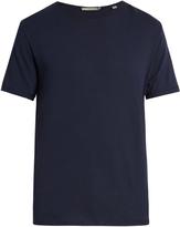 Vince Raw-edge cotton T-shirt