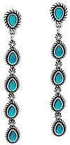 American West As Is Turquoise Sterling Linear Earrings