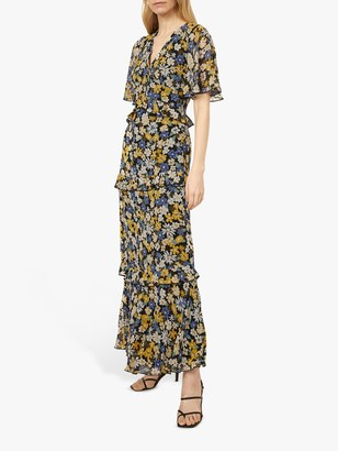 Warehouse Floral Tiered Maxi Dress, Multi