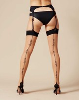 Agent Provocateur Lynx Stocking Champagne And Black