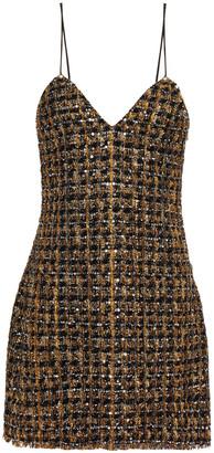 Balmain Embellished Metallic Tweed Mini Dress