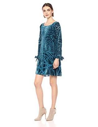 Taylor Dresses Women's Burnout Abstract Print Shift Dress