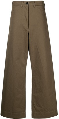 Margaret Howell Wide-Leg High-Waisted Trousers