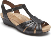 Rockport Cobb Hill Hollywood Pleated T Strap Sandal (Women's)