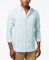 Tommy Bahama Men's Big and Tall Linen Pintado Striped Shirt