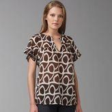 Ruffle Sleeve Print Top
