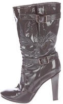 Jimmy Choo Patent Leather Pointed-Toe Boots